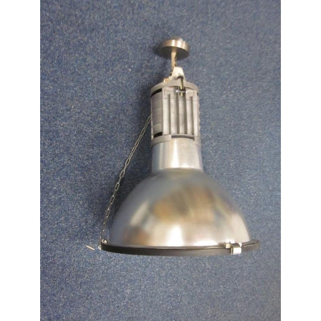 Five Large French Mid-Century Industrial Lights - Image 3 of 8