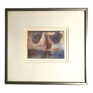1960s Framed Abstract Lithograph