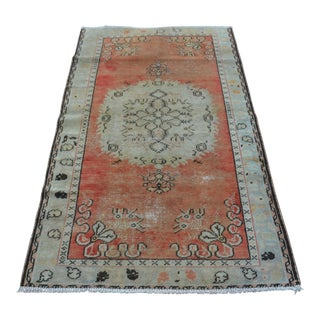 Oushak Orange Rug - 3′4″ × 6′