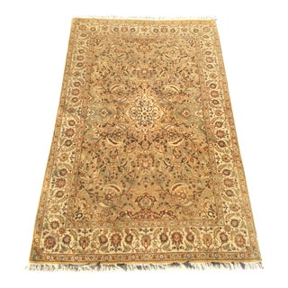 Handmade Indian Area Rug - 4′1″ × 6′2″