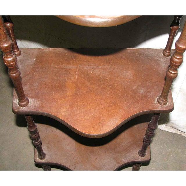 Dark Wooden 5 Tier Shelf - Image 5 of 10