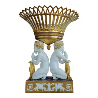Period Early 19th Century Sevres Empire Porcelain Figural Centerpiece