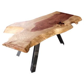 Redwood Solid Wood Slab Live Edge Coffee Table