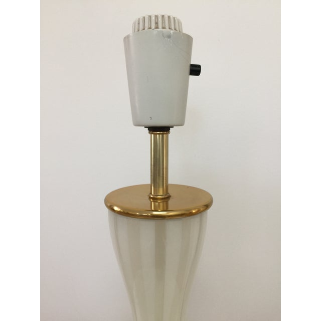 Italian Modern Glass and Brass Table Lamp - Image 4 of 8