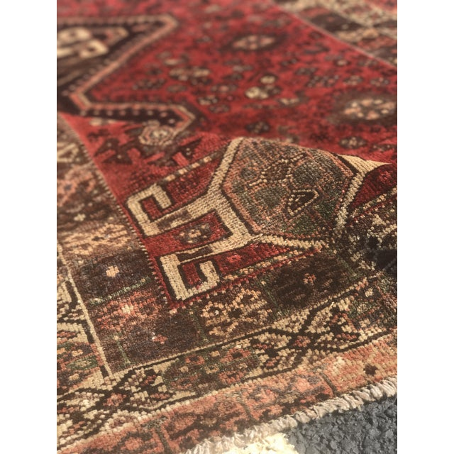 "Vintage Persian Shiraz Area Rug - 5'7""x8'1"" - Image 8 of 11"