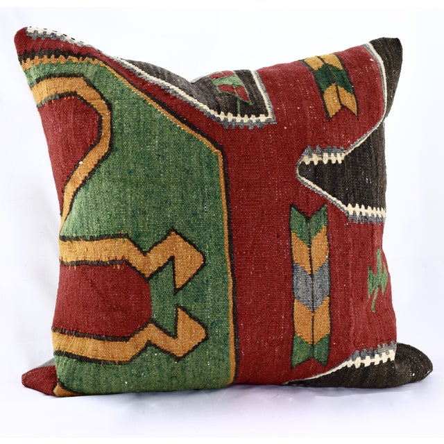 Oversized Kilim Accent Pillow - Image 8 of 8