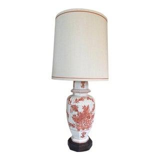 Vintage Frederick Cooper Hand Painted Ginger Jar Lamp