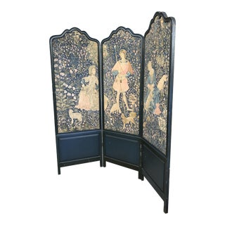 Tall Antique Belgium Linen Room Divider Exquisite