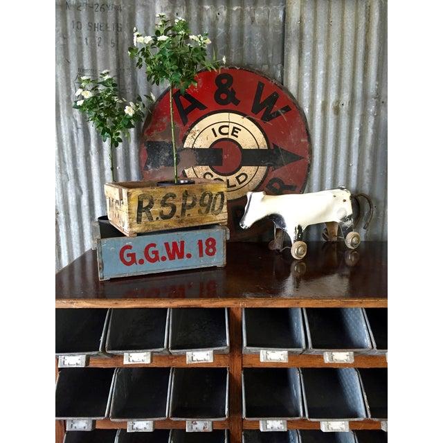 Image of Vintage 1950s A&W Rootbeer Metal Sign