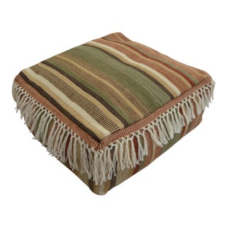 Turkish Hand Woven Kilim Floor Cushion - 24″ X 24″