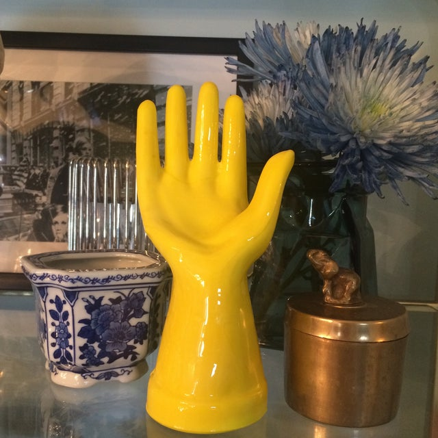 Image of Chartreuse Hand Sculpture