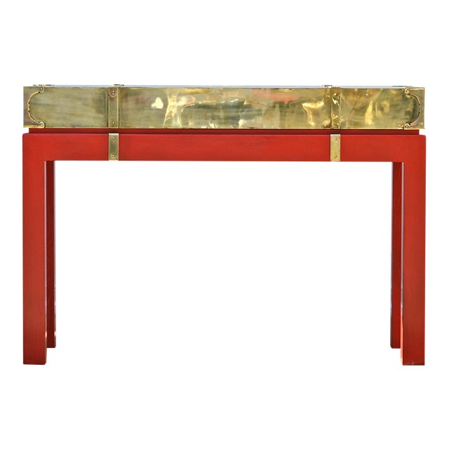 Brass Campaign Style Console - Image 1 of 9