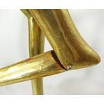 Image of Mid-Century Gold Gilt Wooden Flamigo