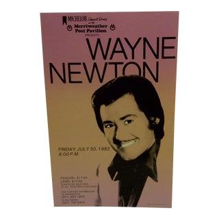 1982 Vintage Concert Poster for Wayne Newton