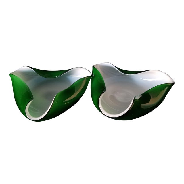 60's Murano Art Glass Ashtrays - A Pair - Image 1 of 8
