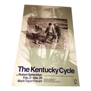 "1992 ""The Kentucky Cycle"" Original Poster"