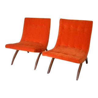 Milo Baughman Scoop Chairs - A Pair