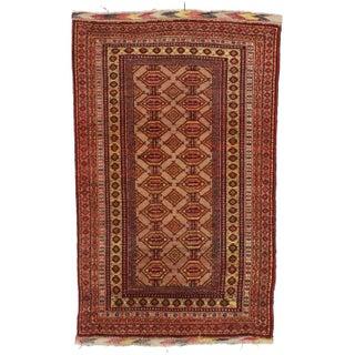 RugsinDallas Unusual Vintage Afghan Turkmen Tribal Area Rug