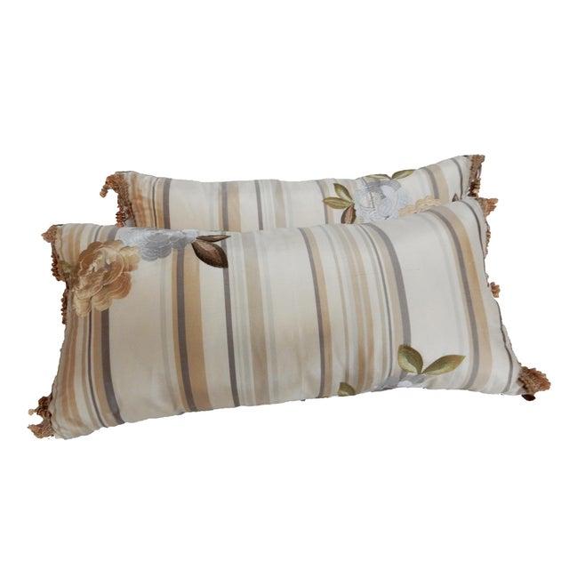Custom Made Silk Lumbar Pillows - A Pair - Image 9 of 9