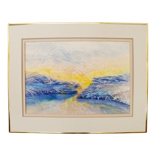Abstract Watercolor Landscape Painting