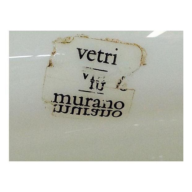 Image of Vintage Vetri Murano Glass Mushroom Lamp