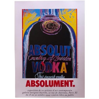 1995 Andy Warhol Absolut Poster