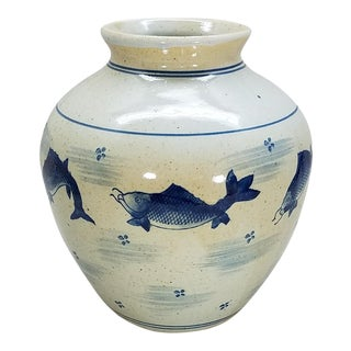 Chinoiserie Glazed Pottery Vase