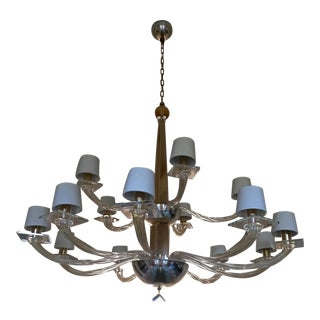 Donghia Murano Gold Dust Grande Stellare Chandelier