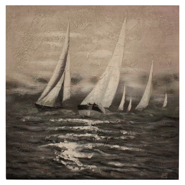 Image of Surya Acrylic Painting - Sailboat