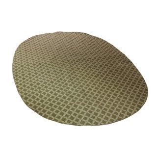 "Vintage Sarreid LTD Green Oval Rug - 10'5"" x 15'3"""