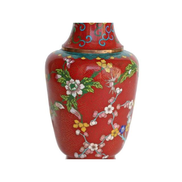 Large Red Cloisonne Vase - Image 3 of 5