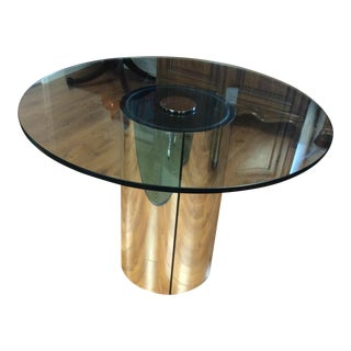 1970's Pace Collection Glass Top Coffee Table
