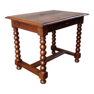 18th Century French Provincial Walnut Trestle Work Table