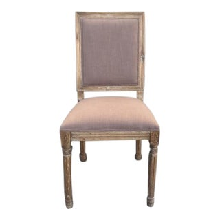 French Square Fabric Side Chair