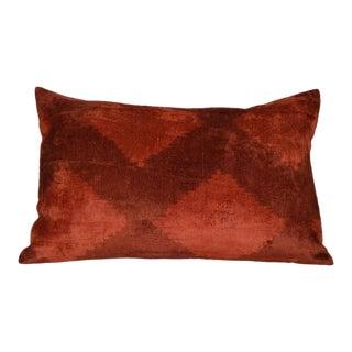 Inah Silk Velvet Ikat Pillow
