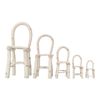Set of Linda Kramer Ceramic Chairs