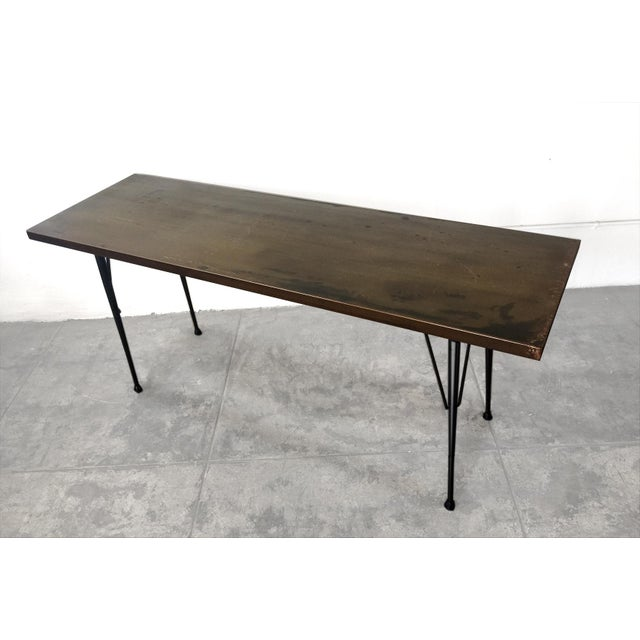 Mid-Century Patina Console Table, Rehab Original - Image 6 of 6