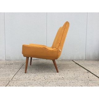 1960's Modernist Slipper Chairs - A Pair