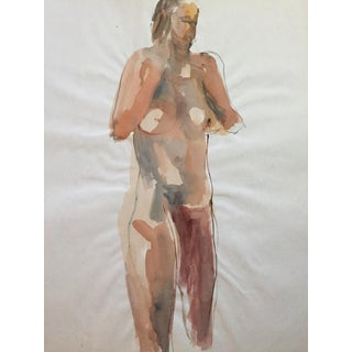 Thelma Corbin Moody Female Nude Standing c. 1970's Painting