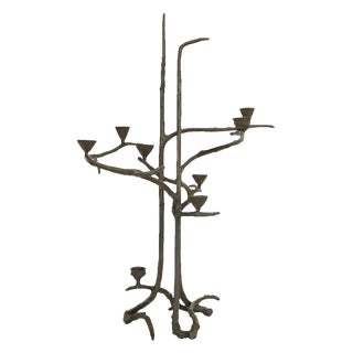 Seven Light Bronze Candelabra