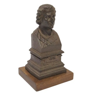 Vintage Sarreid LTD Bronze Bust of a Man