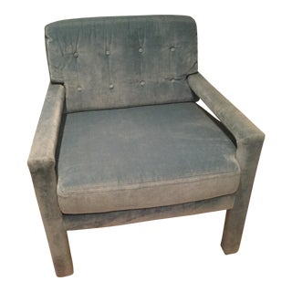 Milo Baughman Style Contemporary Club Chair