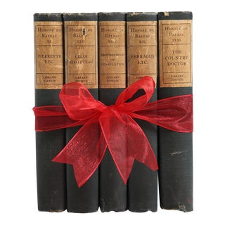 Antique Book Gift Set: Green French Classics, S/5