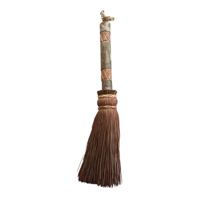 Rustic Carved Hand Broom - Image 1 of 8