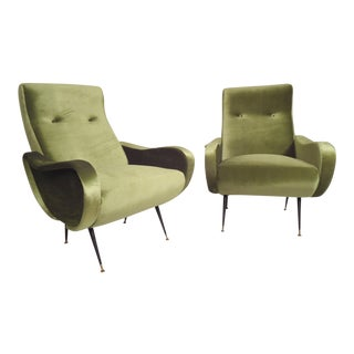 Italian Mid-Century Style Lounge Chairs - a Pair