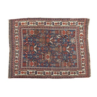 "Persian Antique Qashqai Rug - 3'9"" X 4'10"""