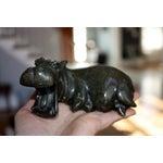 Image of Verdite Stone Shona Hippo Sculpture