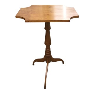 19th Century Maple Flip Top Candle Stand or Table