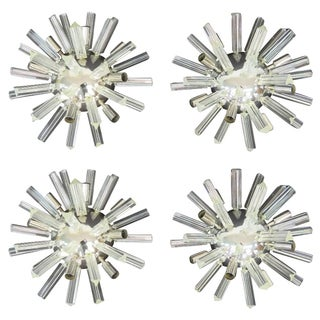 Chrome & Glass Sputnik Sconces - Set of 4