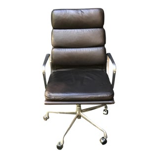 Herman Miller Chocolate Brown High Back Leather Executive Chair